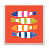 Orange Picket Fish Coaster