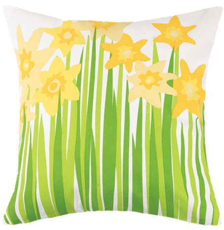 Daffodil Canvas Pillow