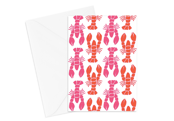 Pink Lobster Card
