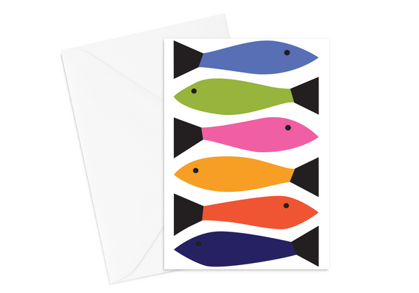 Rainbow Fish B Card