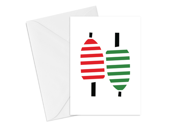 Striped Buoy Card