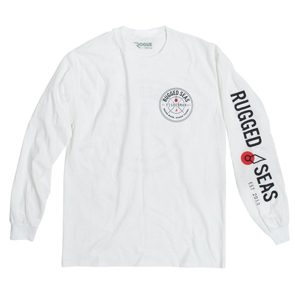 Rugged Seas Long Sleeve White