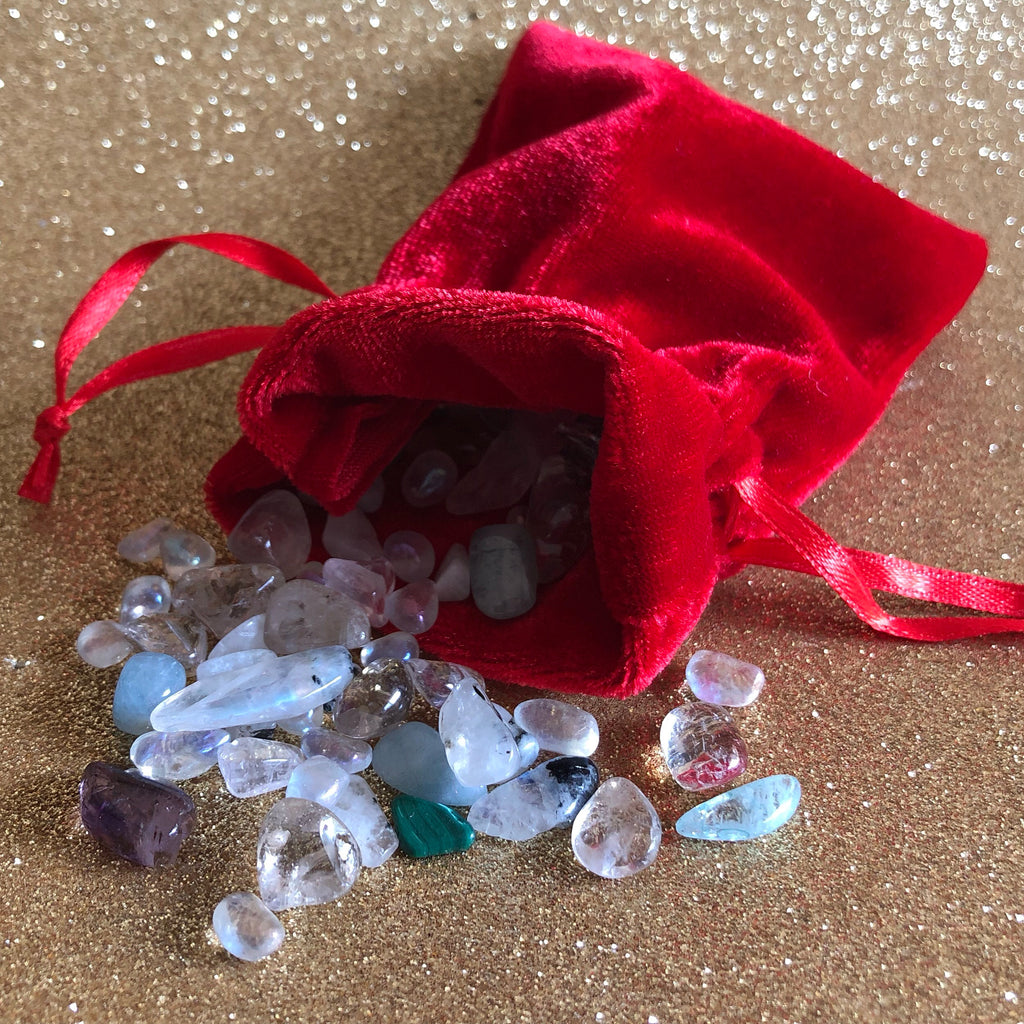 Crystal Filled Pouch