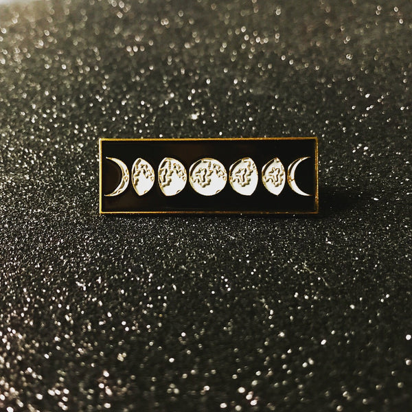 GOLD TRIMMED Moon Phases Pin