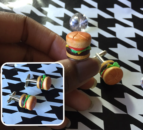 Cheeseburger Cufflinks