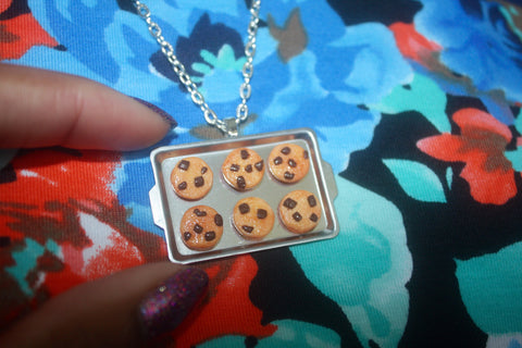 Chocolate Chip Cookie Pan Necklace