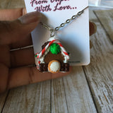 Gingerbread House Necklace