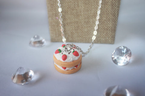 Strawberry Shortcake Charm Necklace