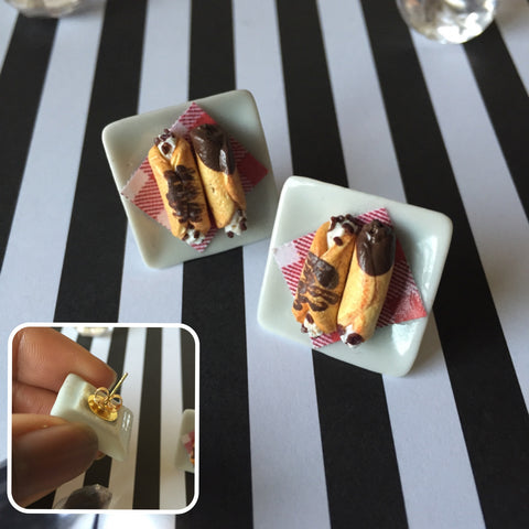 Canoli Stud Earrings