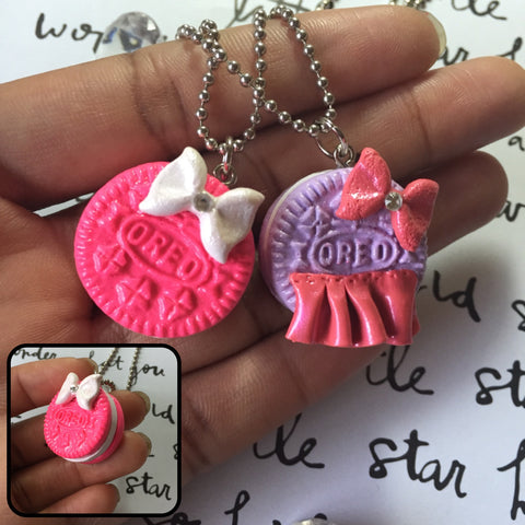 Bow & Tutu Oreo Necklaces