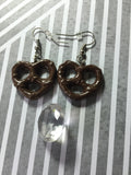 Chocolate Covered Pretzel Earrings