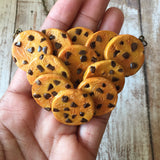 Chocolate Chip Cookie Cluster Necklace