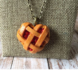Heart Shaped Cherry Pie Necklace