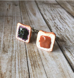 Peanut Butter & Jelly Cufflinks
