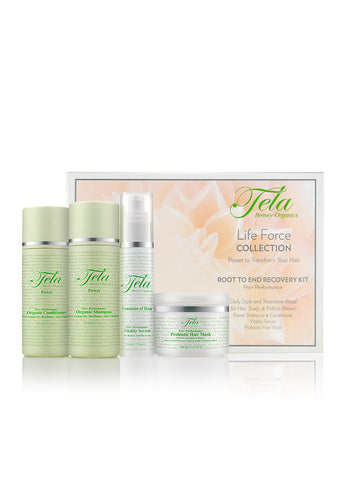 Tela Beauty Organics Root To End Recovery Kit, beauty discovery set, probiotic hair care