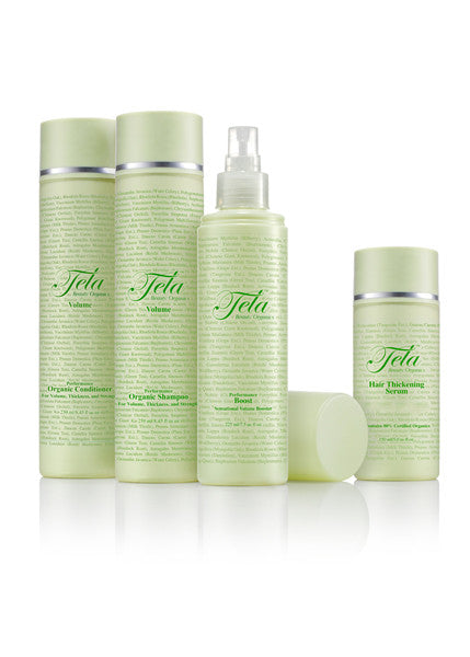 Tela Beauty Organics hair volume set, organic hair volume products