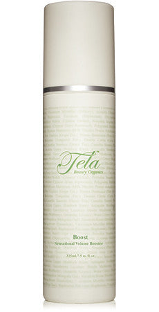 organic style product for thickness and volume, tela beauty organics by Philip pelusi, boost sensational volume booster
