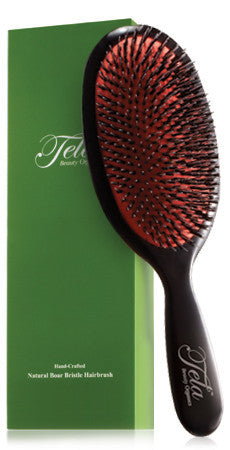 boar bristle hair brush from tela beauty organics, hair styling tools