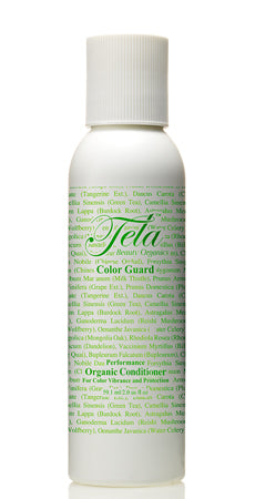 color guard conditioner, travel size, tela beauty organics haircare, anti color fade, organic conditioner