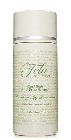 tela beauty organics curl of my dreams, anti frizz serum for curly hair