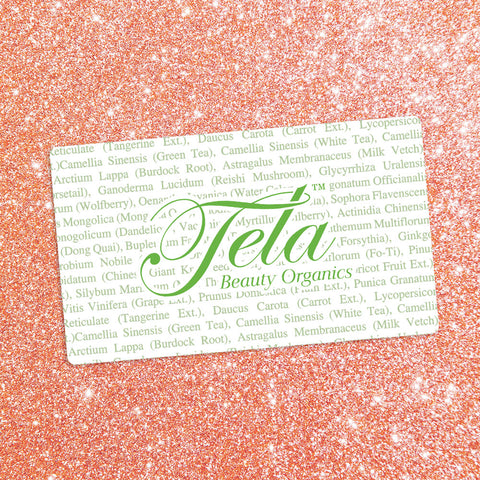 hair care gift certificate, tela beauty organics by Philip Pelusi, online gift certificate, perfect beauty gift, best beauty ecard