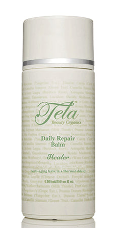 healer daily repair balm, organic leave in conditioner, healthy hair, tela beauty organics