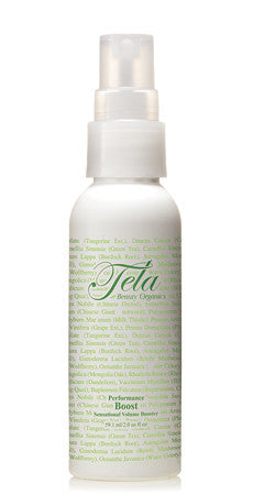 organic style product for thickness and volume, tela beauty organics by Philip pelusi, boost sensational volume booster, travel size volume style product