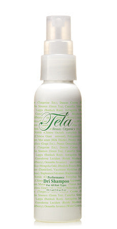 organic dri shampoo, travel size haircare product, tela beauty organics