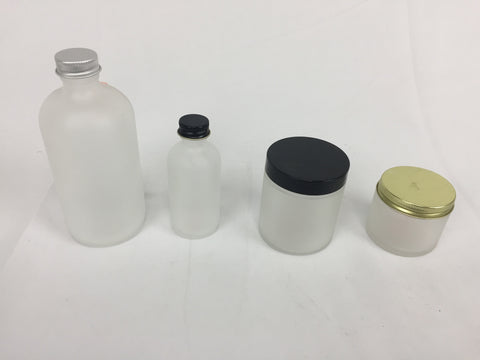Frosted Glass Containers