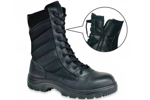 "8"" Black F/G Side Zipper Uniform Boot"