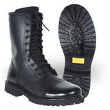 Black Side Zipper Combat Boot