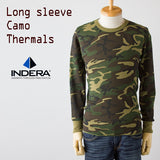 Indera Men's Thermal Underwear Top, Woodland Camo