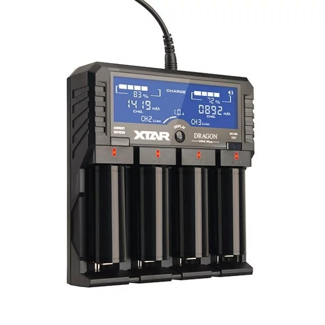 XTAR Dragon VP4 Plus 4 Channel Digital Battery Charger