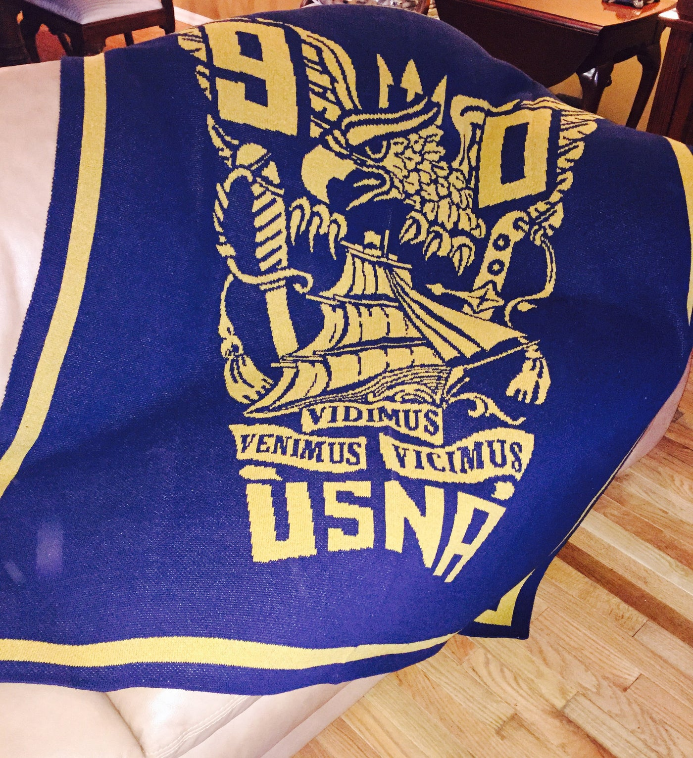 US Naval Academy Class of 1990 Seal Blanket