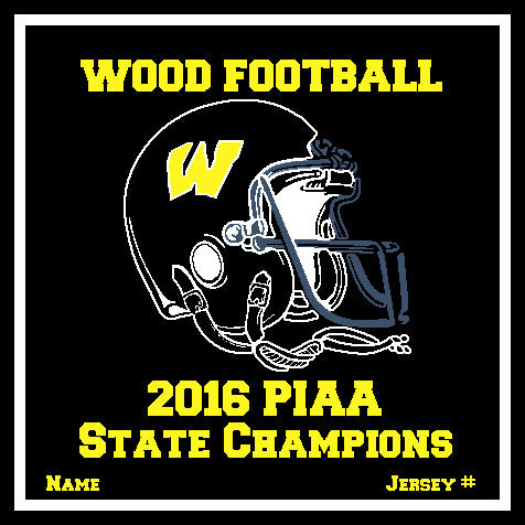 AB Wood Customized 2016 PIAA Champions BLACK Football