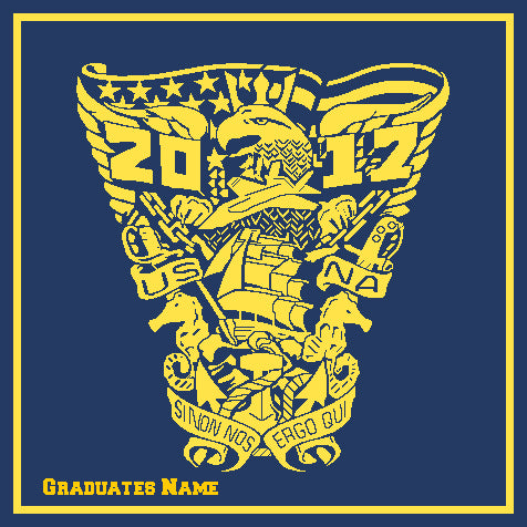 Custom US Naval Academy Class of 2017 Seal Blanket