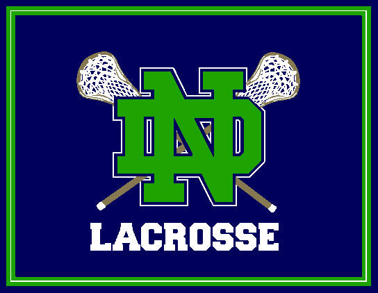 Notre Dame Men's KELLY Lacrosse Crossed Sticks 60 x 50