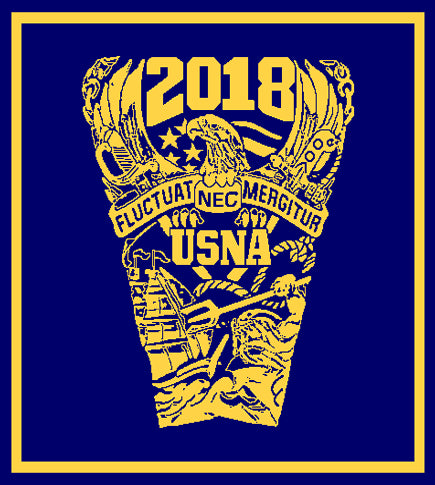 US Naval Academy Class of 2018 Seal Blanket