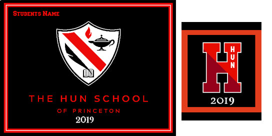 The Hun School of Princeton 2019 Blanket  with Name and Pillow