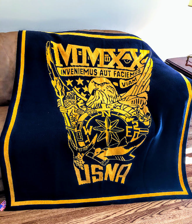 US Naval Academy Class of 2020 Seal Blanket