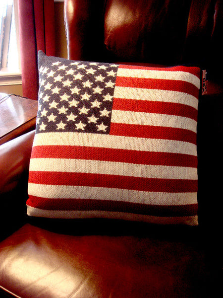 Stars and Stripes American Flag Pillow
