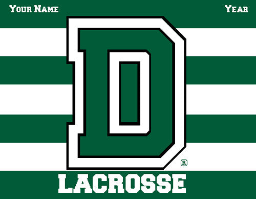 Dartmouth Striped Women's Lax Name & Number