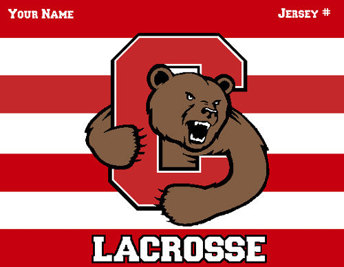 Cornell Striped Men's Lax Name & Number
