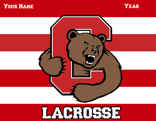 Cornell Striped Women's Lax Name & Year