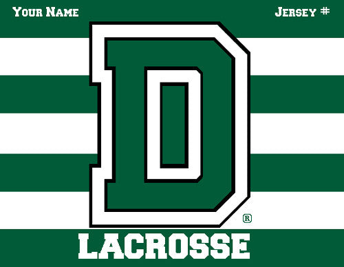 Dartmouth Striped Lax Name & Number