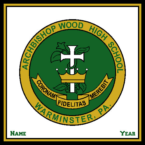 Archbishop Wood Seal Natural Base Customized with your Name & Year