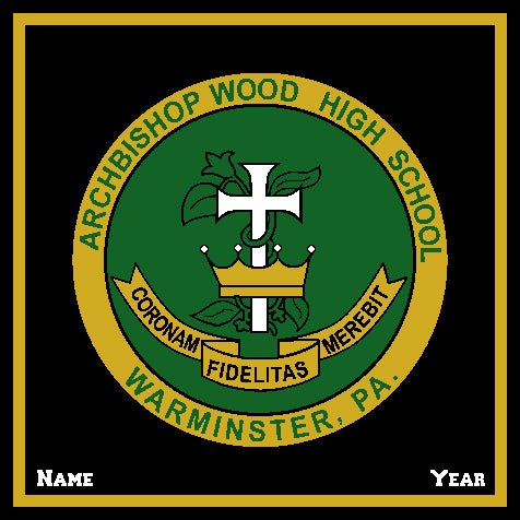 Archbishop Wood Seal  Hunter Base Customized with your Name & Year