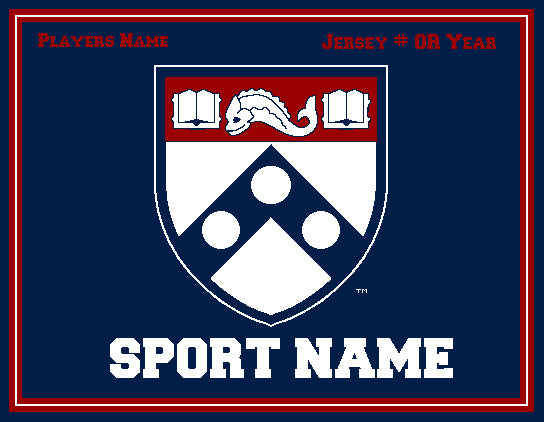 Custom PENN Academic Shield ANY SPORT  60 x 50