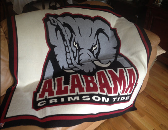 Alabama Crimson Tide Blanket Natural 60 x 50