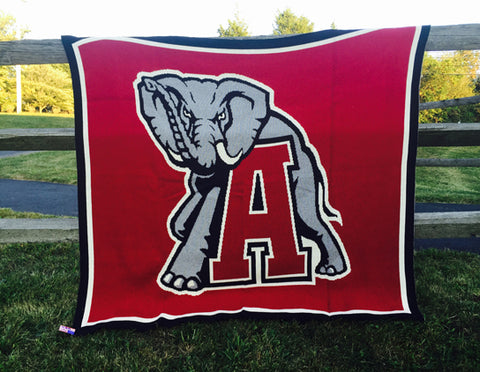 Alabama Big Al Blanket Crimson 60 x 50